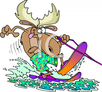 Water Skiing Activities Cartoon Clipart.