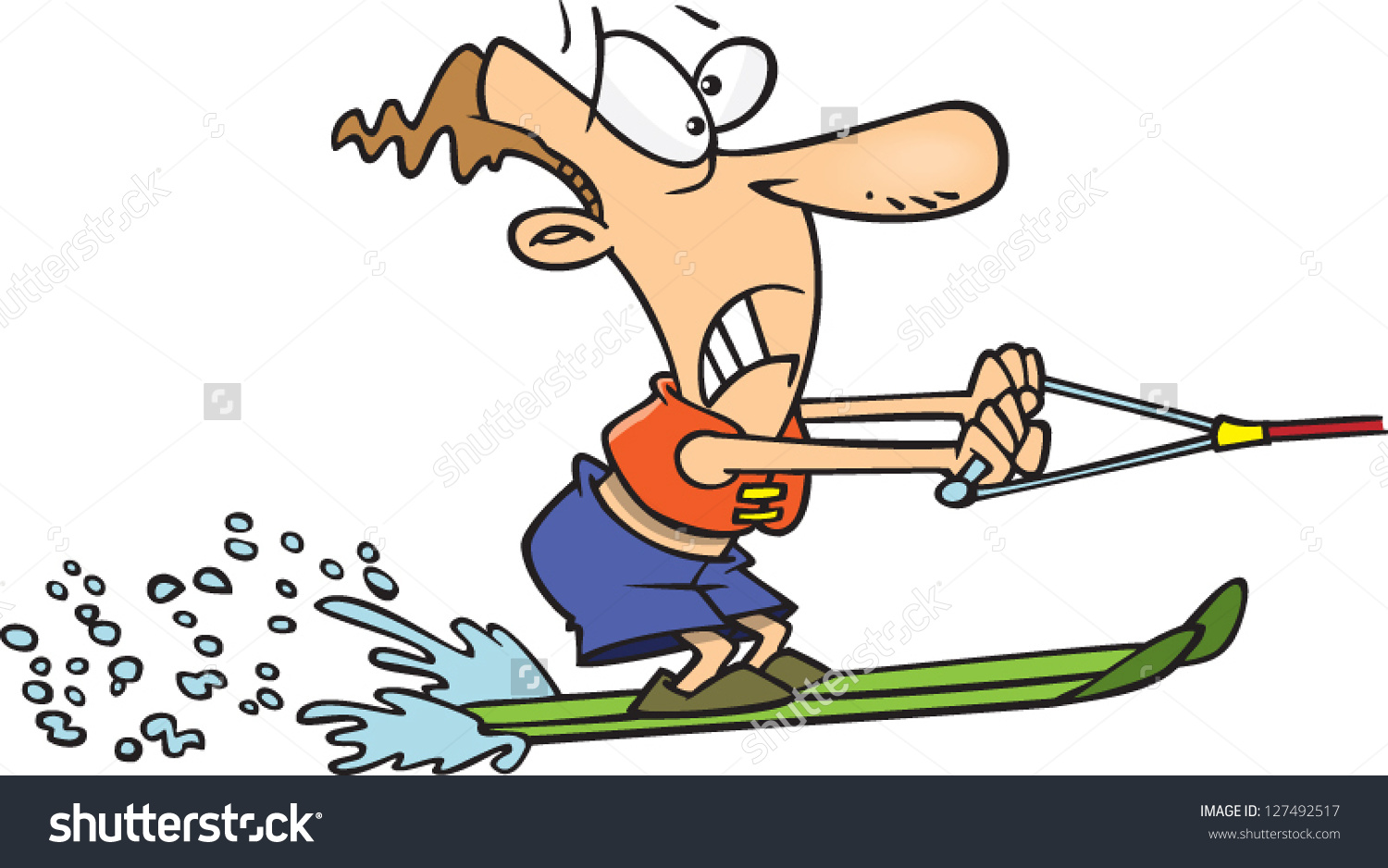 Water ski clipart without person.