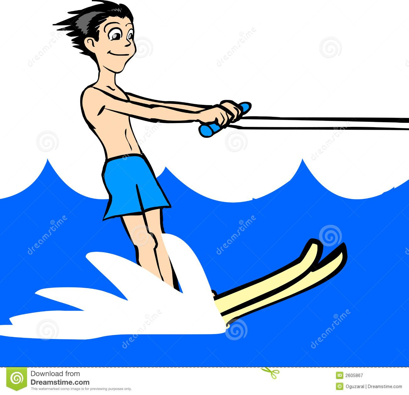 Water skiing clipart images.
