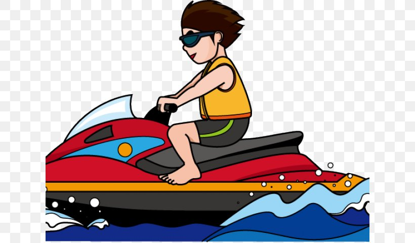 Personal Watercraft Water Skiing Clip Art, PNG, 640x480px.