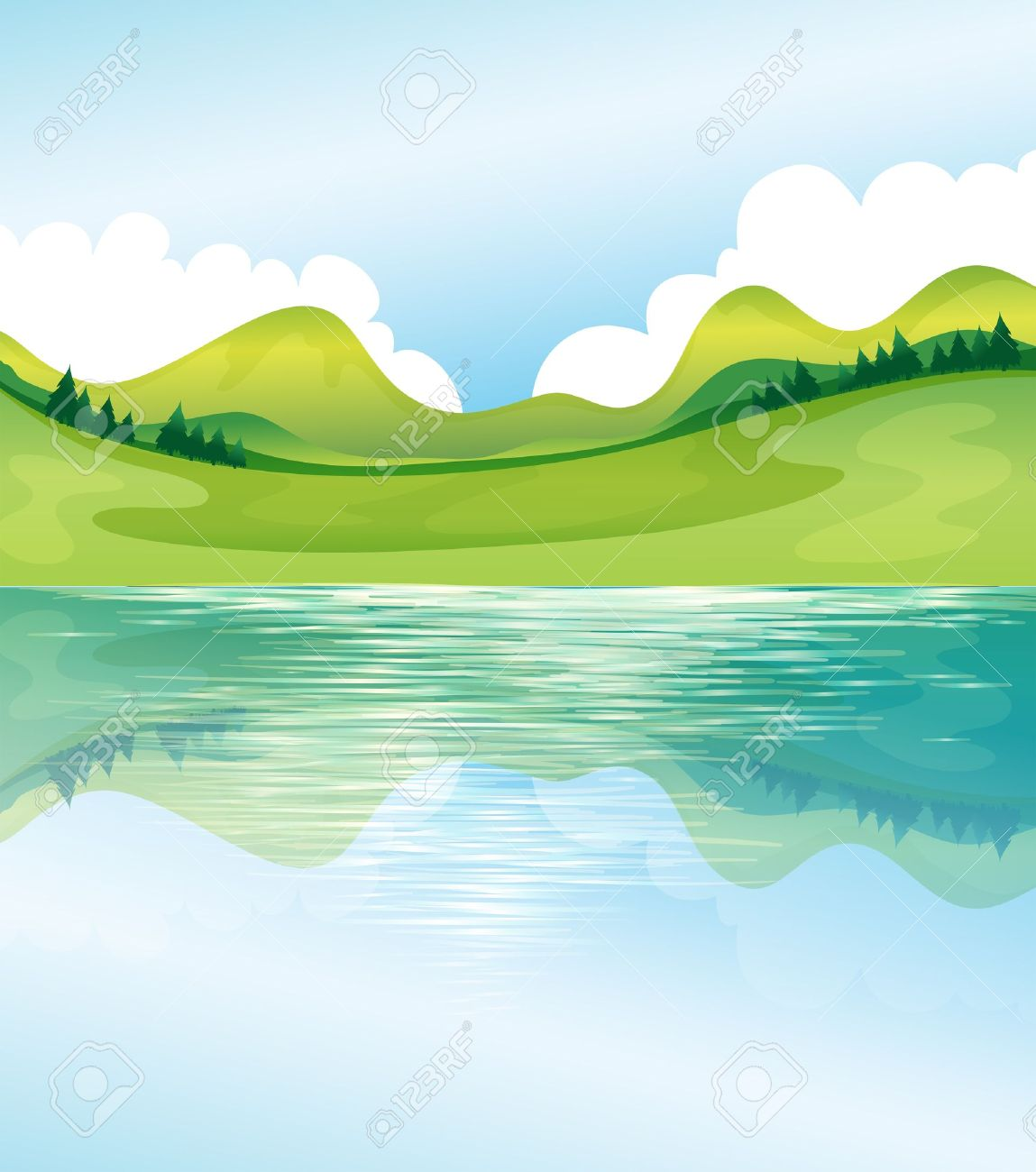 Land and sky clipart.