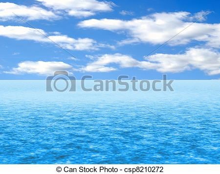 Water And Sky Clipart.