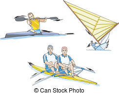 Water slalom Clipart Vector Graphics. 61 Water slalom EPS clip art.
