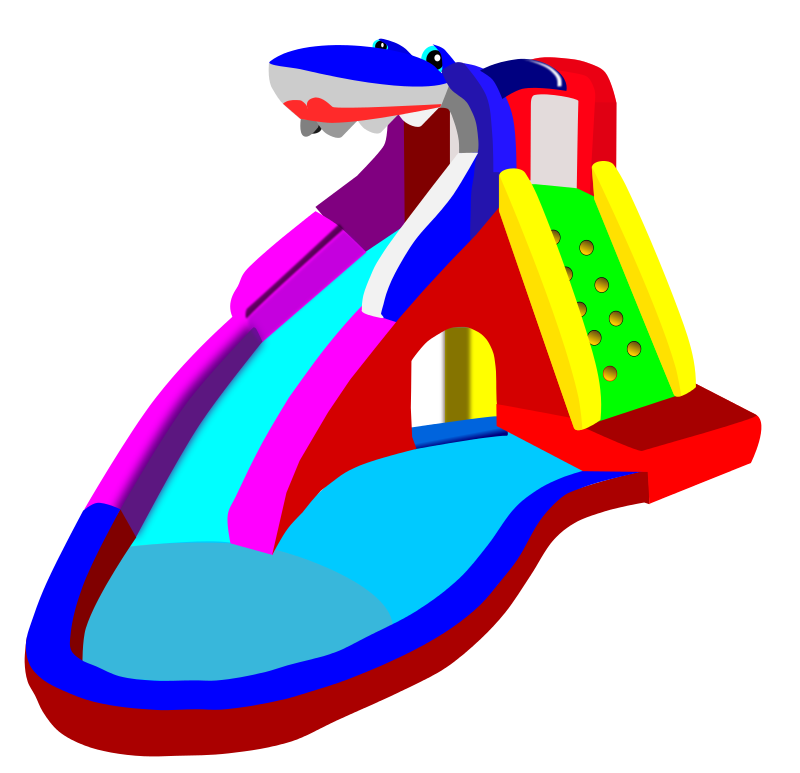Free Clipart: Bouncy Castle.