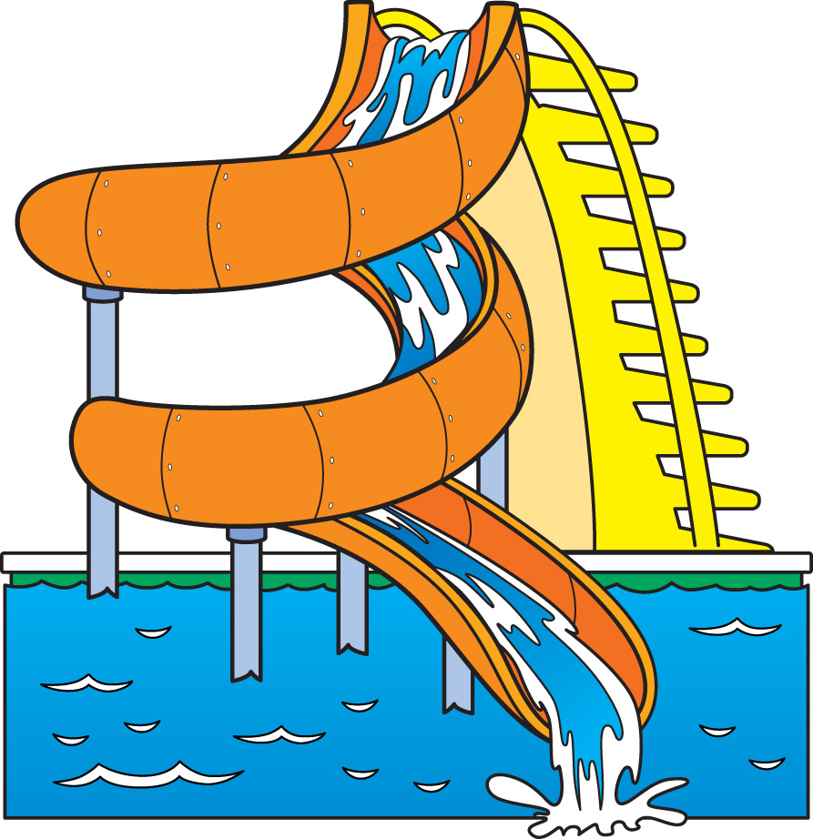 Clipart water slides.