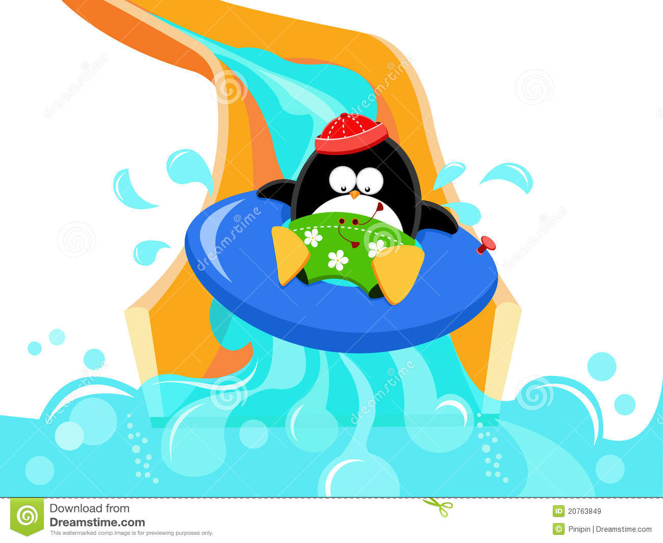 Water Slide Clipart.