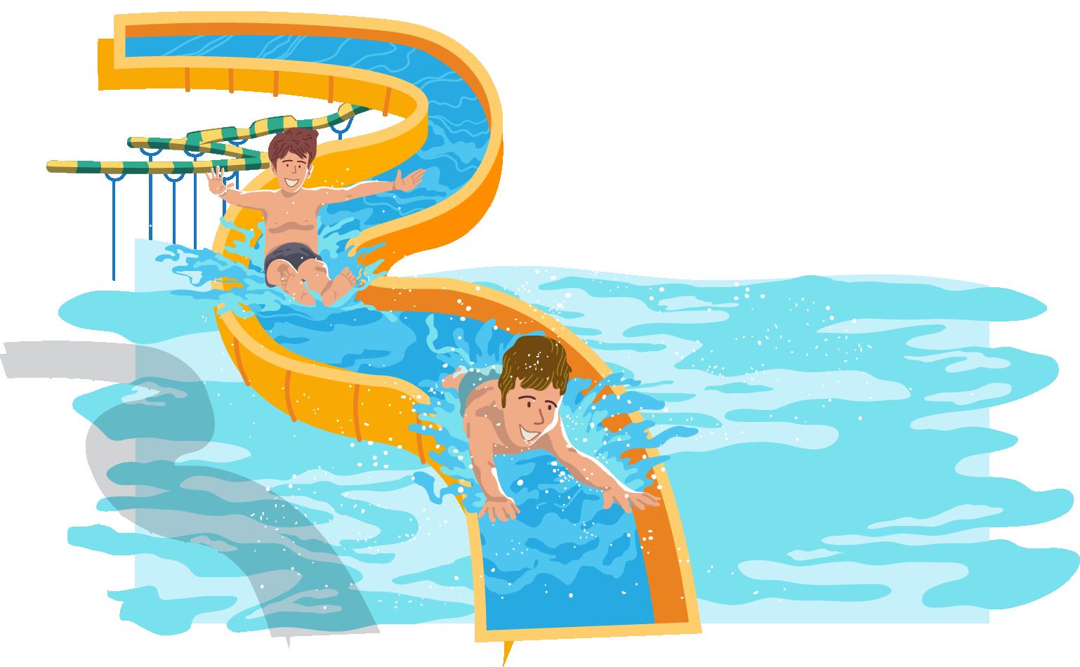 Water park Water slide Swimming pool.