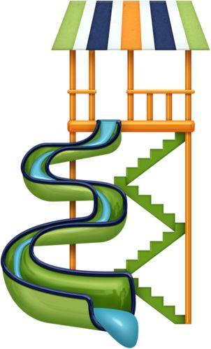 Water slide clip art summer clipart.