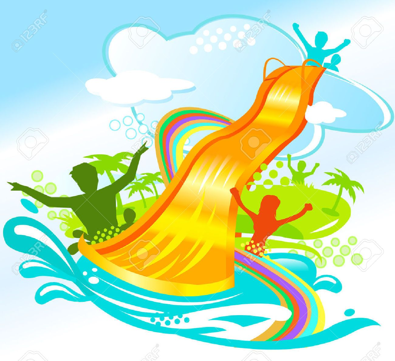Free clipart of water slides 6 » Clipart Portal.