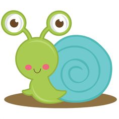 Cartoon Snail Clip Art.