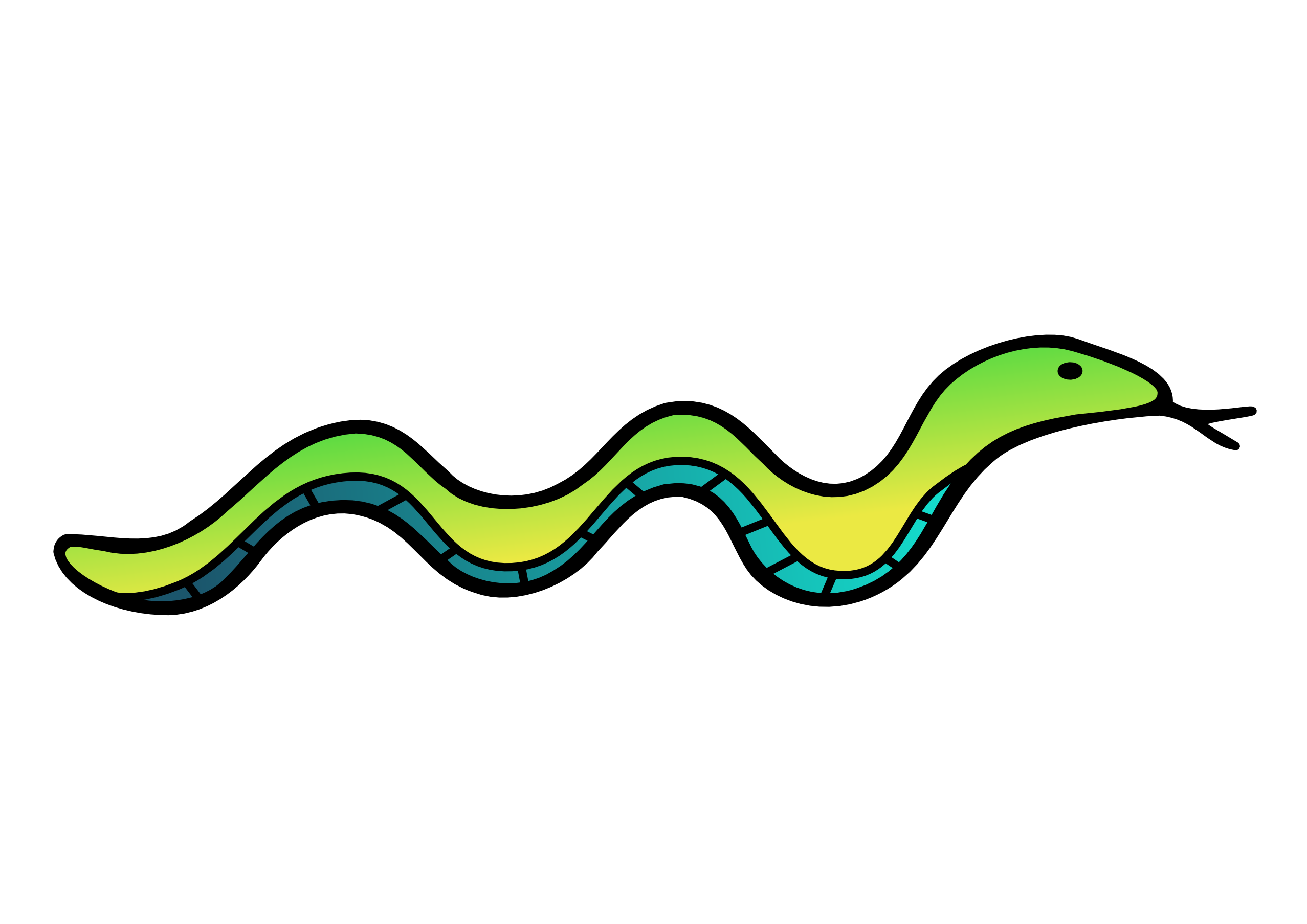 Water snake clipart.