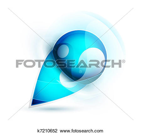 Clipart of Vector abstract blue water sphere icon k7210652.
