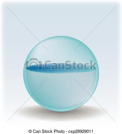 Vector Clip Art of Water sphere isolated on white csp28929011.