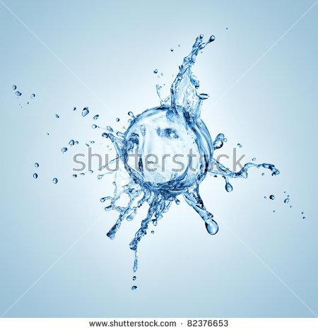 Water Splash On Sphere Stock Foto 79671955.