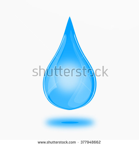 Blue Shiny Water Drop Vector Illustration Stock.