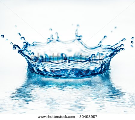 Transparent Splash Blue Water On White Stock Foto 28960360.