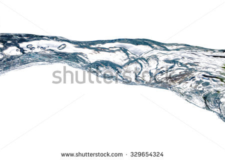 Water Stream Splash Isolated Over White Stock Foto 63661072.