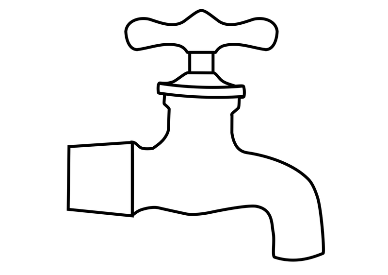 Water Faucet Vector Clipart image.