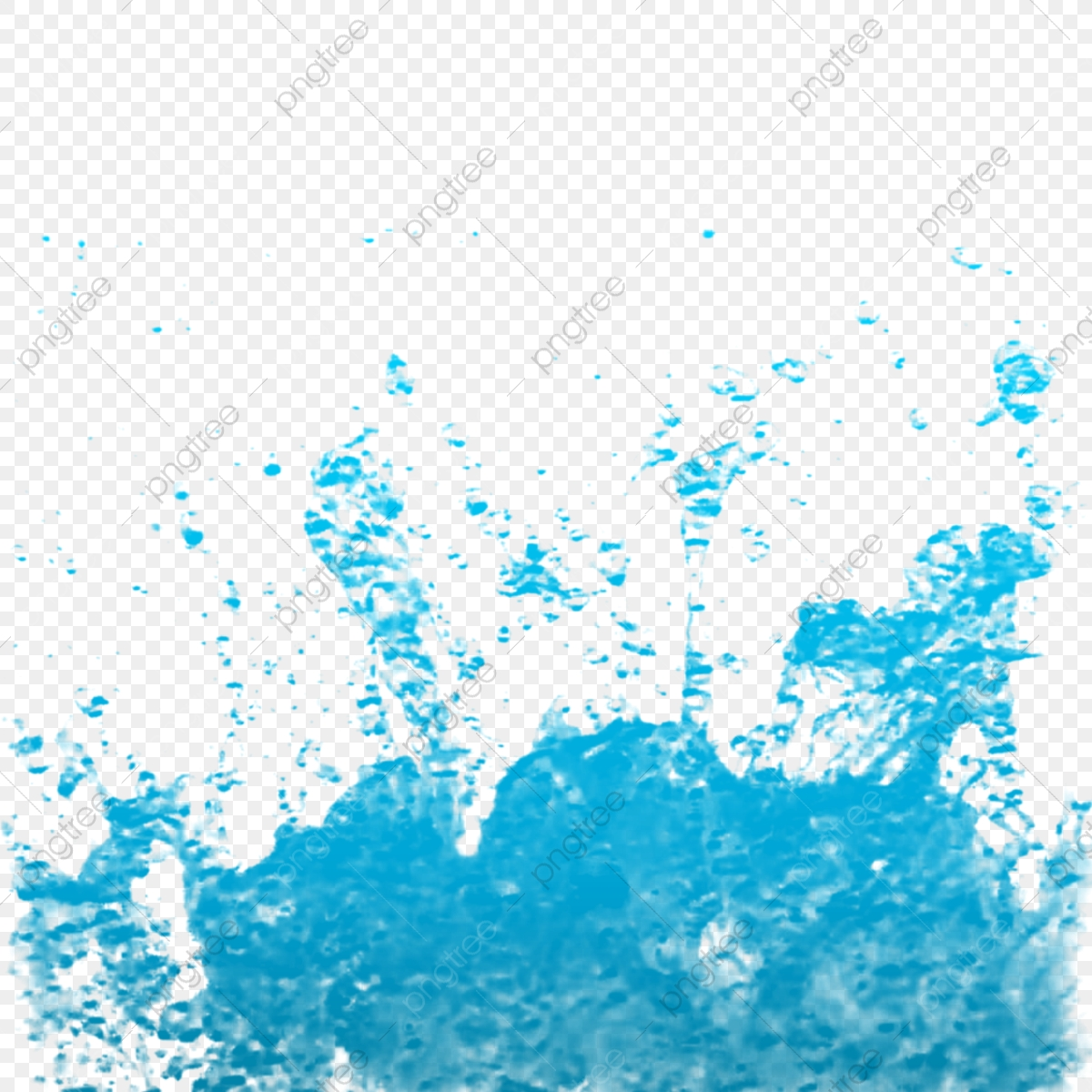 Blue Water Splash Clipart, Water Drop Vector Background, Sea.