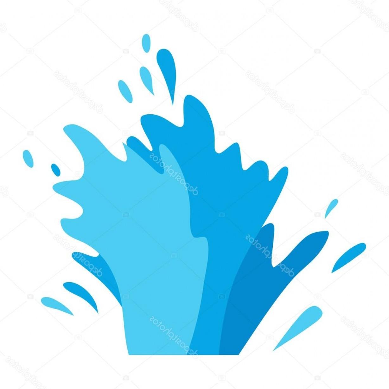 Stock Illustration Water Splashes Vector Set.