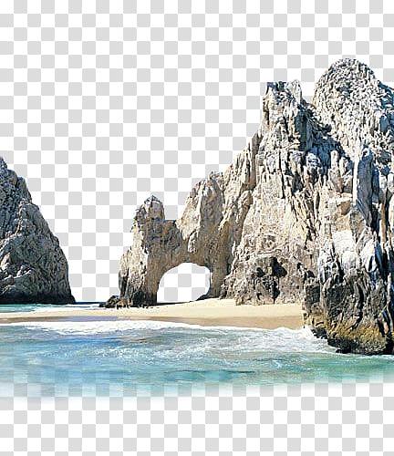 Summer Beach s, brown rocks near body of water transparent.