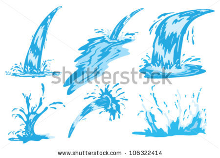 Water Spray Stock Images, Royalty.