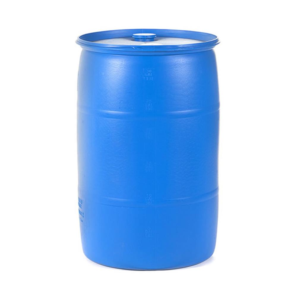 Small Water Storage with Water Barrel 30 Gallon Drum, High.