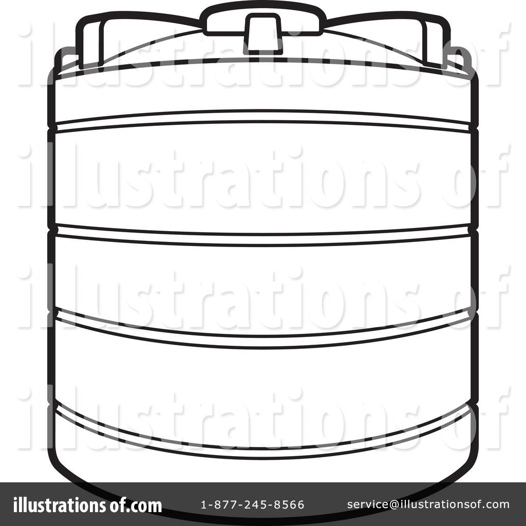 Water Storage Black White Clipart.