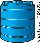 Water Storage Clipart Vector Royalty Free.