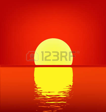 19,830 Sunset On The Water Stock Vector Illustration And Royalty.