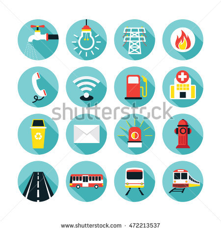Utilities Icon Stock Images, Royalty.