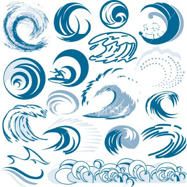 collection,clip art,wave pattern,waving,wave,surfing,surf,tidal.