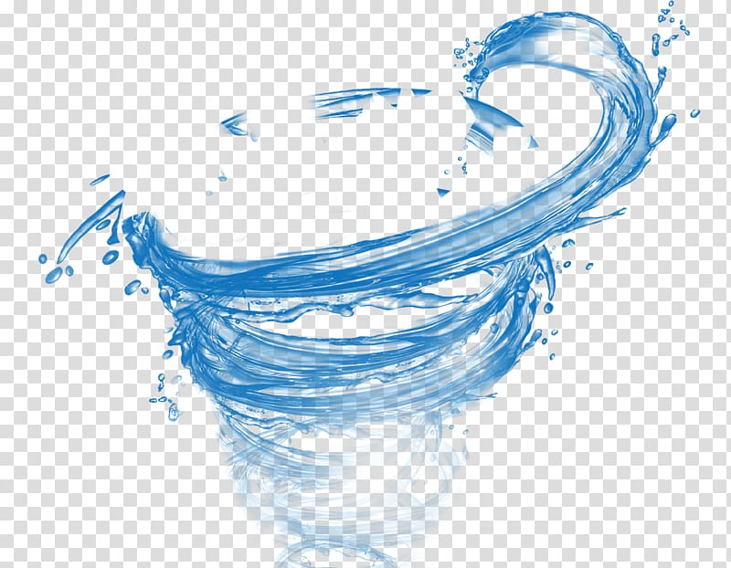 Water swirl effect transparent background PNG clipart.