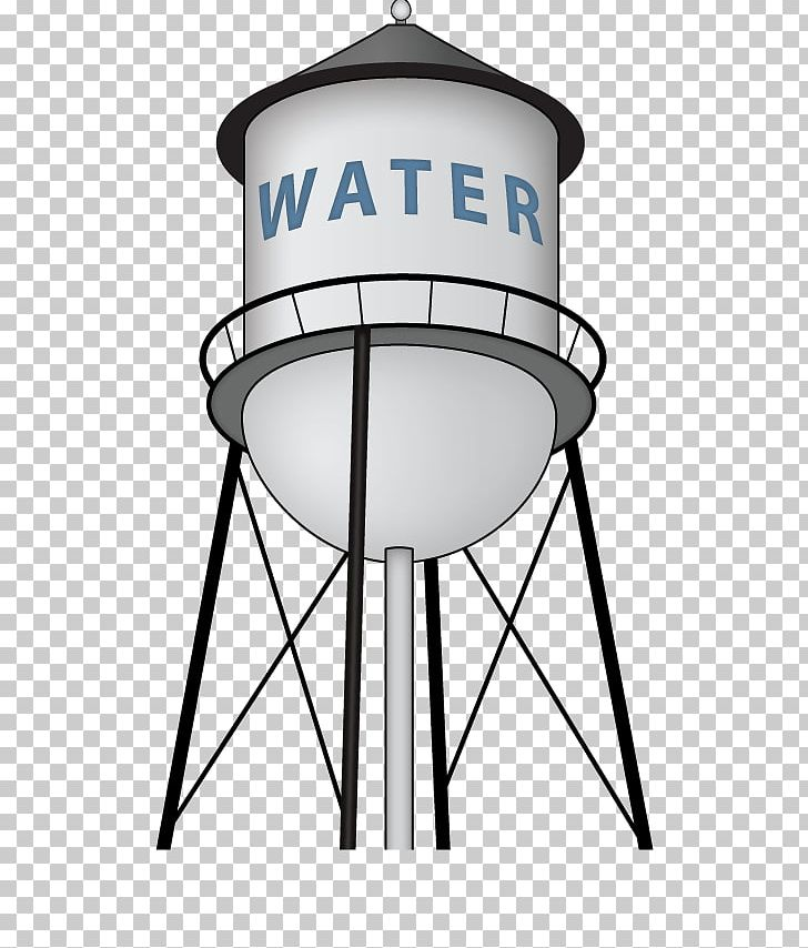 Water Tower Water Tank PNG, Clipart, Area, Black And White.