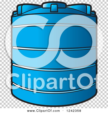 Clipart of a Blue Water Holding Tank.