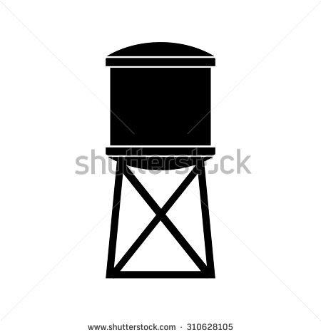Windmill with water tank clipart.