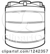 Clipart of a Water Holding Tank.