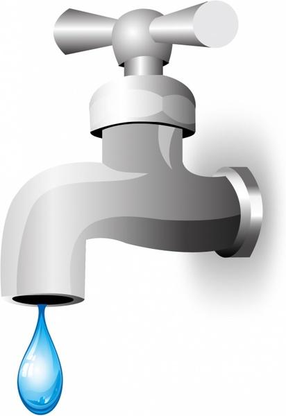 Water tap Free vector in Adobe Illustrator ai ( .AI.