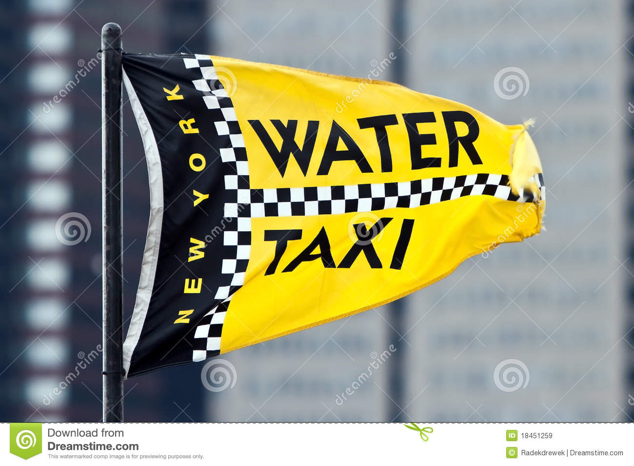 Yellow Water Taxi Stock Photo.