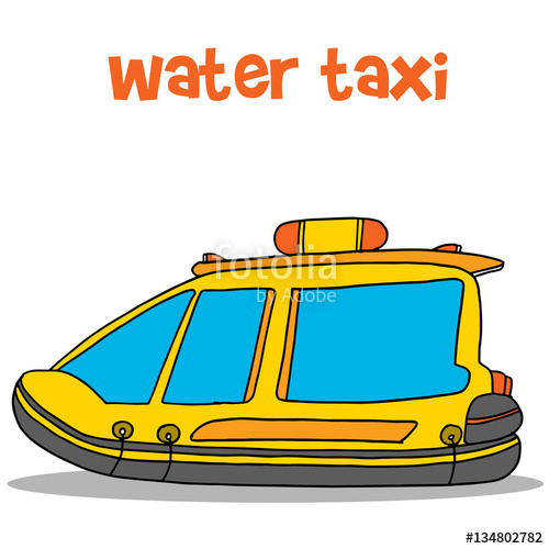 """Collection of water taxi cartoon"""" Stock image and royalty."""