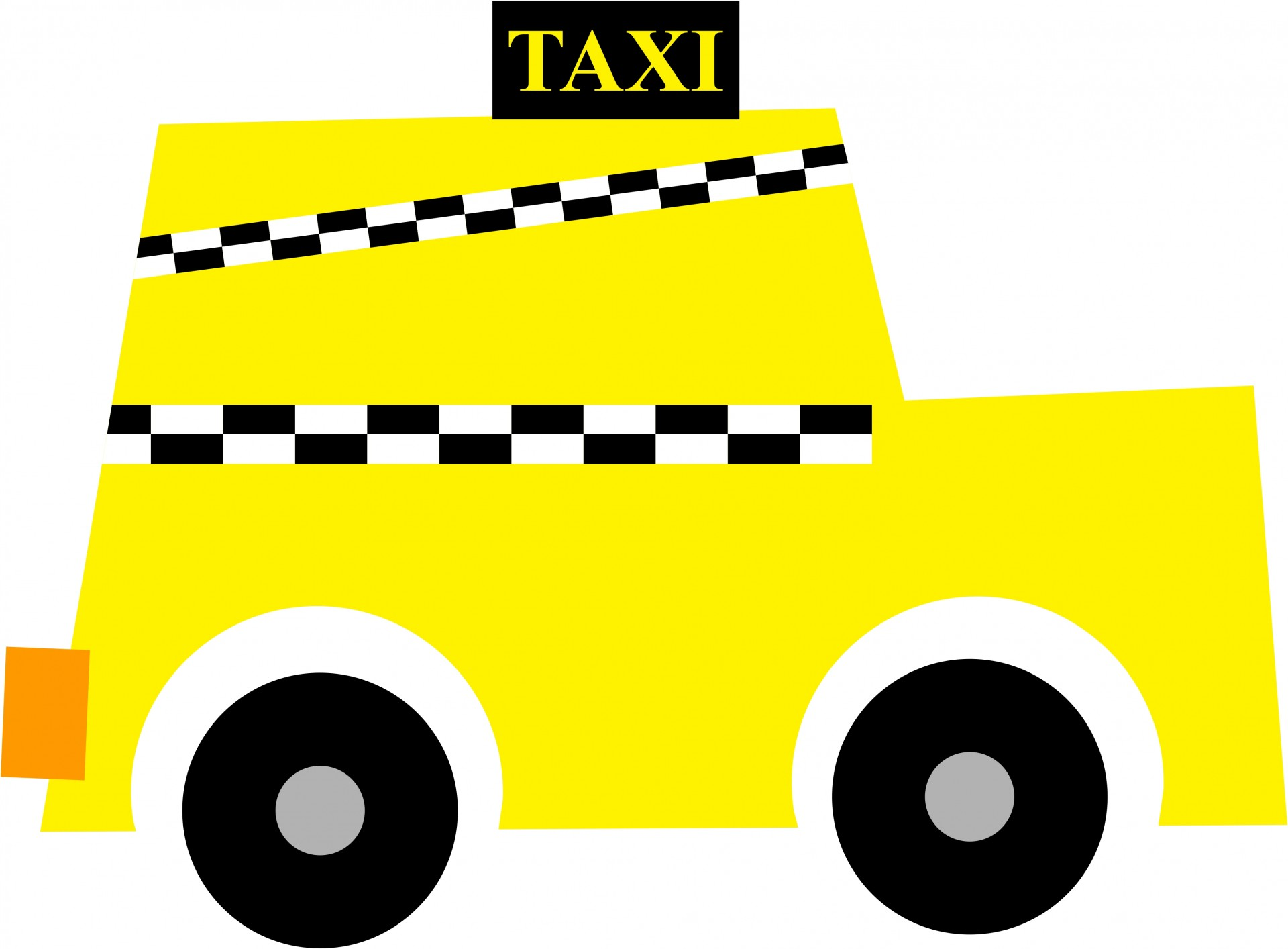 New York Taxi Clipart Free Stock Photo.