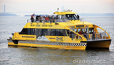 New York Water Taxi Editorial Photography.