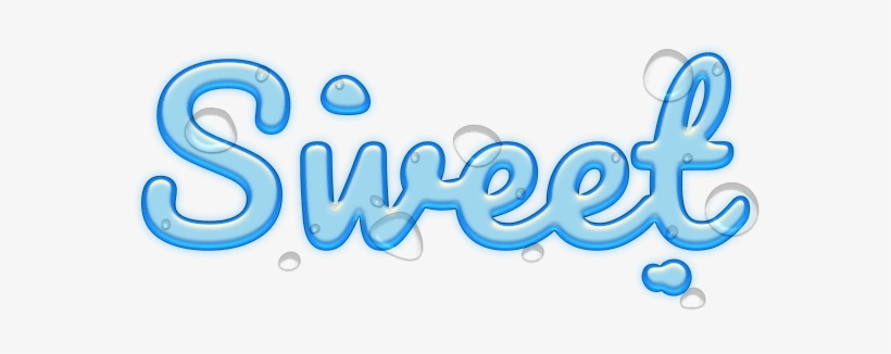 Cool Water Text Stickers Messages Sticker.