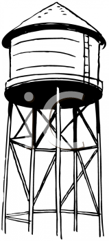 Water Tower Clipart.