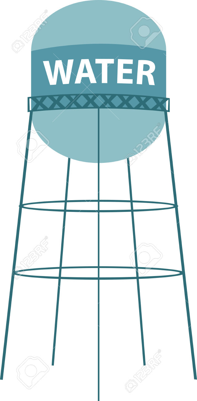 Round Water Tower Clipart.
