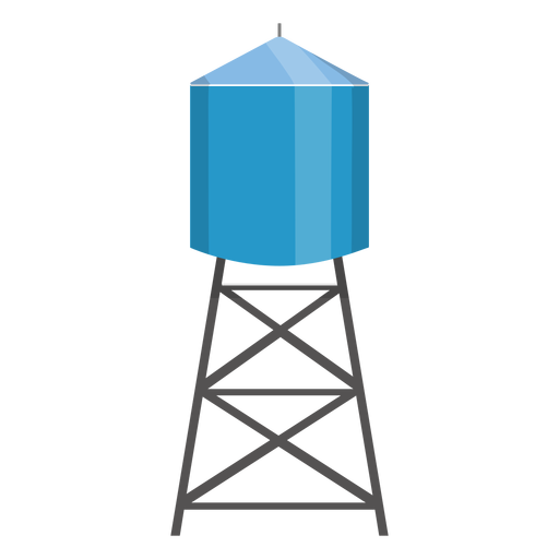Water tower container illustration.