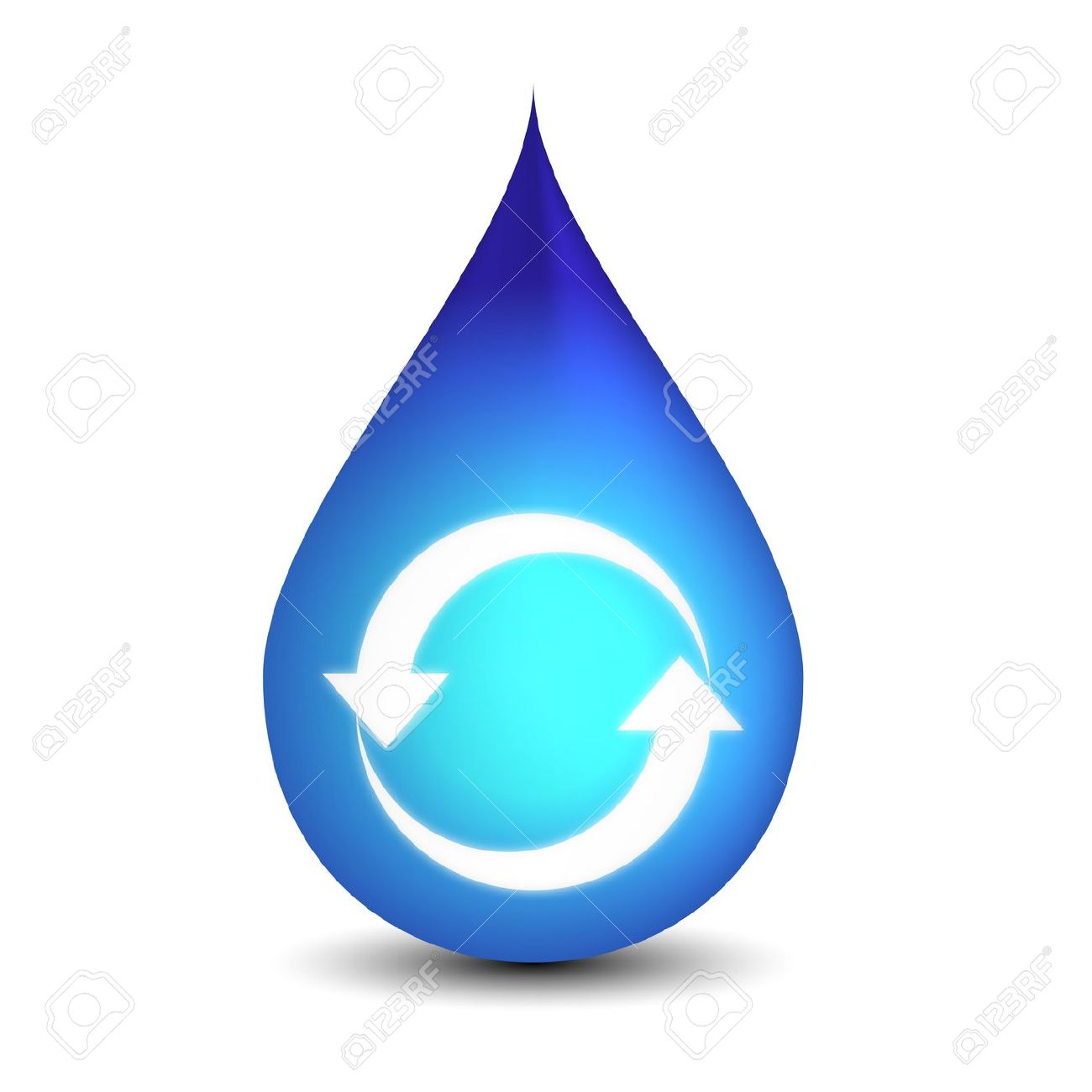 Conserve energy and water clipart.