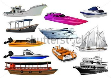 Transportation in water clipart.