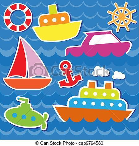 Water Transportation Clipart.