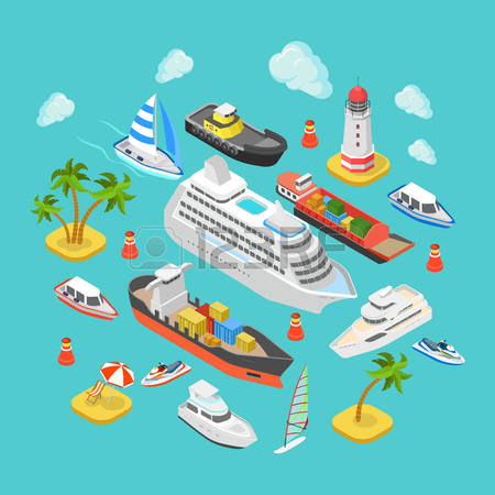 50,518 Water Transport Stock Vector Illustration And Royalty Free.